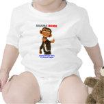 Obama Grabbin apila al bebé T Trajes De Bebé