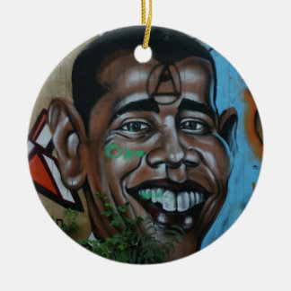 Obama Graffiti Christmas Ornament