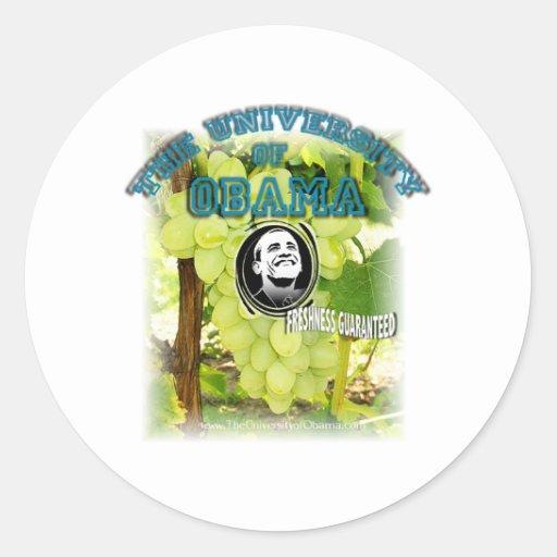 Obama Grapes FRESHNESS GUARANTEED Classic Round Sticker