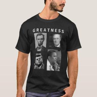 Obama GREATNESS Lincoln FDR JFK Obama T-shirt