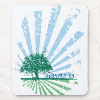 Obama Green Mouse Pad