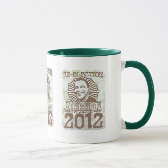 Obama Groovy Re-Election 2012 Gear Mug