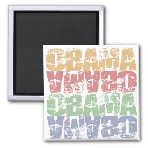 Obama Grunge Fridge Magnets