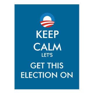 Obama guarda calma para conseguir esta elección en tarjetas postales