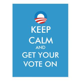 Obama guarda calma para conseguir su voto en la po postal