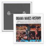 Obama hace el botón de la historia pin