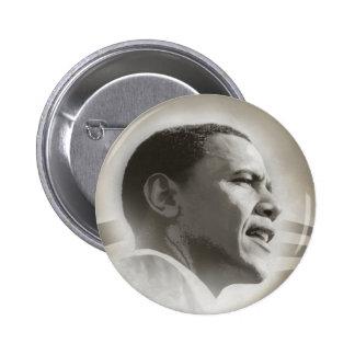 Obama hace frente al botón pin redondo de 2 pulgadas