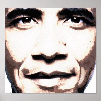 Obama hace frente del poster futuro
