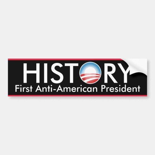 Obama hace historia etiqueta de parachoque