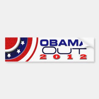 Obama hacia fuera 2012 pegatina de parachoque