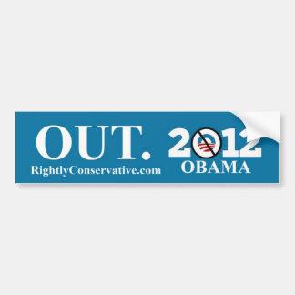¡Obama HACIA FUERA! 2012 Etiqueta De Parachoque