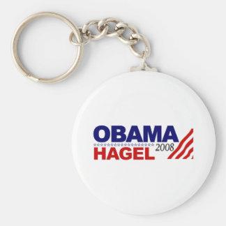 Obama Hagel 2008 Keychain