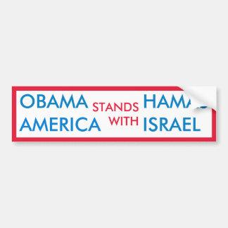 Obama Hamás v los E.E.U.U. Israel Pegatina De Parachoque