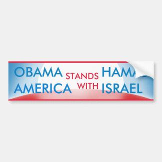 Obama Hamás v los E.E.U.U. Israel Etiqueta De Parachoque