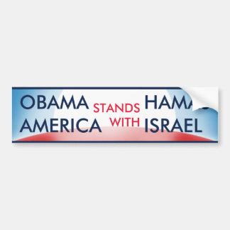 Obama Hamás v los E E U U Israel Pegatina De Parachoque