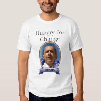 Obama hambriento para el cambio remera