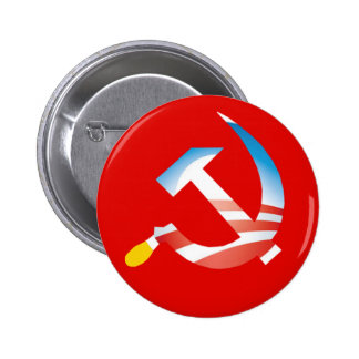 Obama Hammer and Sickle Button