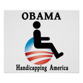 Obama - Handicapping America Poster