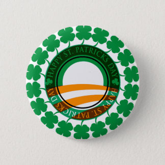 Obama Happy St Patricks Day Pinback Button