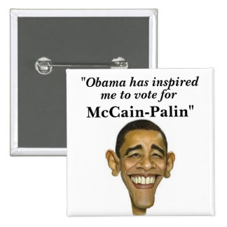 """""""Obama has inspired, me to vote for,... Pinback Button"""