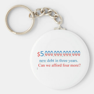 obama has too much debt,  can we afford more? keychain