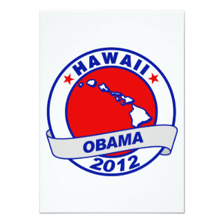 Obama - Hawaii 5x7 Paper Invitation Card