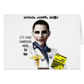 OBAMA HEALTH CARE GREETING CARD