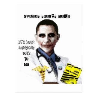 OBAMA HEALTH CARE POSTCARD