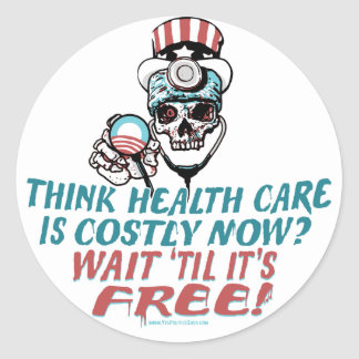 Obama Health Scare Gear by YesPoliticsSuck Classic Round Sticker