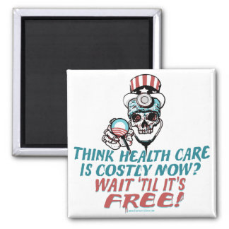 Obama Health Scare Gear by YesPoliticsSuck 2 Inch Square Magnet