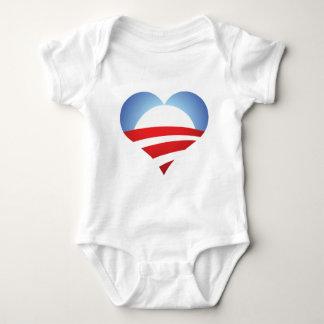 Obama Heart Baby Bodysuit