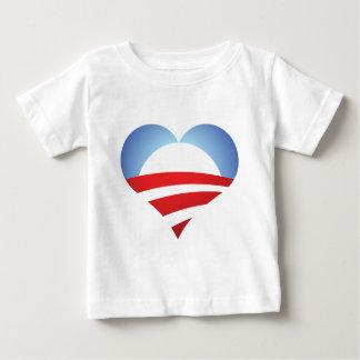 Obama Heart Baby T-Shirt