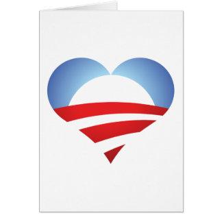 Obama Heart Card