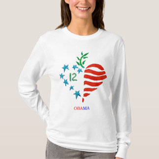 Obama heart long sleeved tee