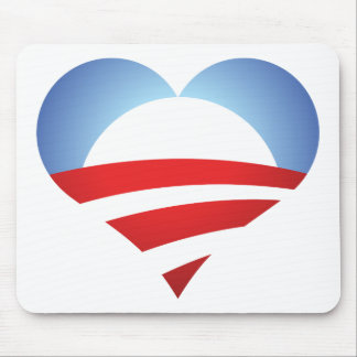 Obama Heart Mouse Mats
