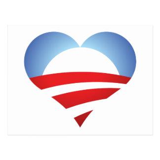 Obama Heart Postcard
