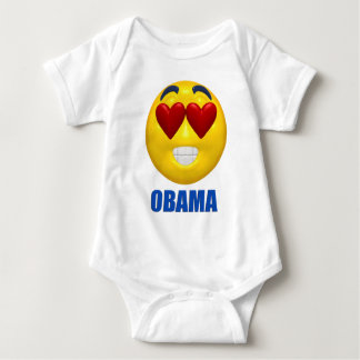 Obama Heart Smiley Face Infant Creeper