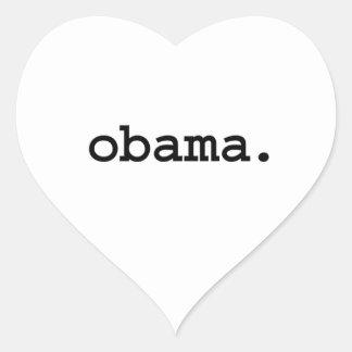 obama. heart sticker
