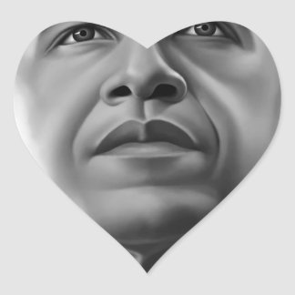 Obama Heart Sticker