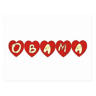Obama Hearts Design T-shirt Postcard