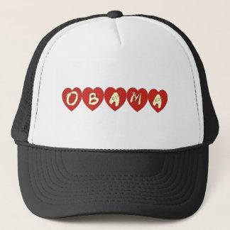 Obama Hearts Design T-shirt Trucker Hat