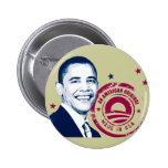 Obama - hecho en los E.E.U.U. Pin