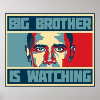 Obama hermano mayor está mirando el poster