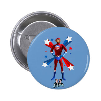 Obama Heroic Pinback Button