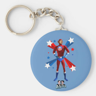 Obama Heroic Basic Round Button Keychain