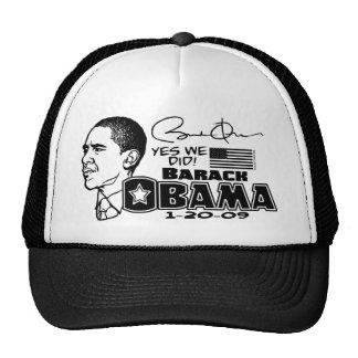 Obama hicimos sí el engranaje 2009 gorras