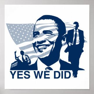 Obama hicimos sí el poster