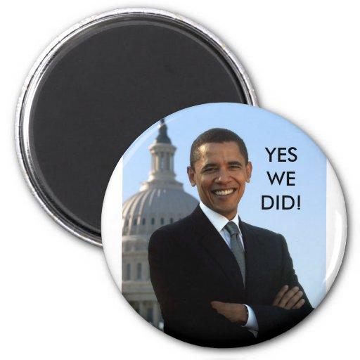 ¡Obama hicimos sí! Iman De Frigorífico