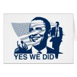 Obama hicimos sí la tarjeta de felicitación