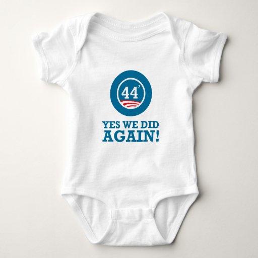 Obama - hicimos sí OTRA VEZ Mameluco De Bebé